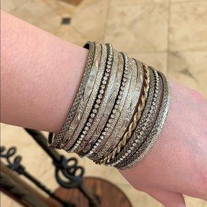 Gorgeous bungles bracelet set 16 pieces